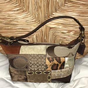 Coach brown signature purse